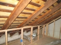 Newtown Stone House Insulation - Attic Before