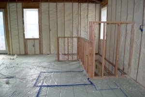 Home addition insulation: Spray foam installed in Eagleville, PA
