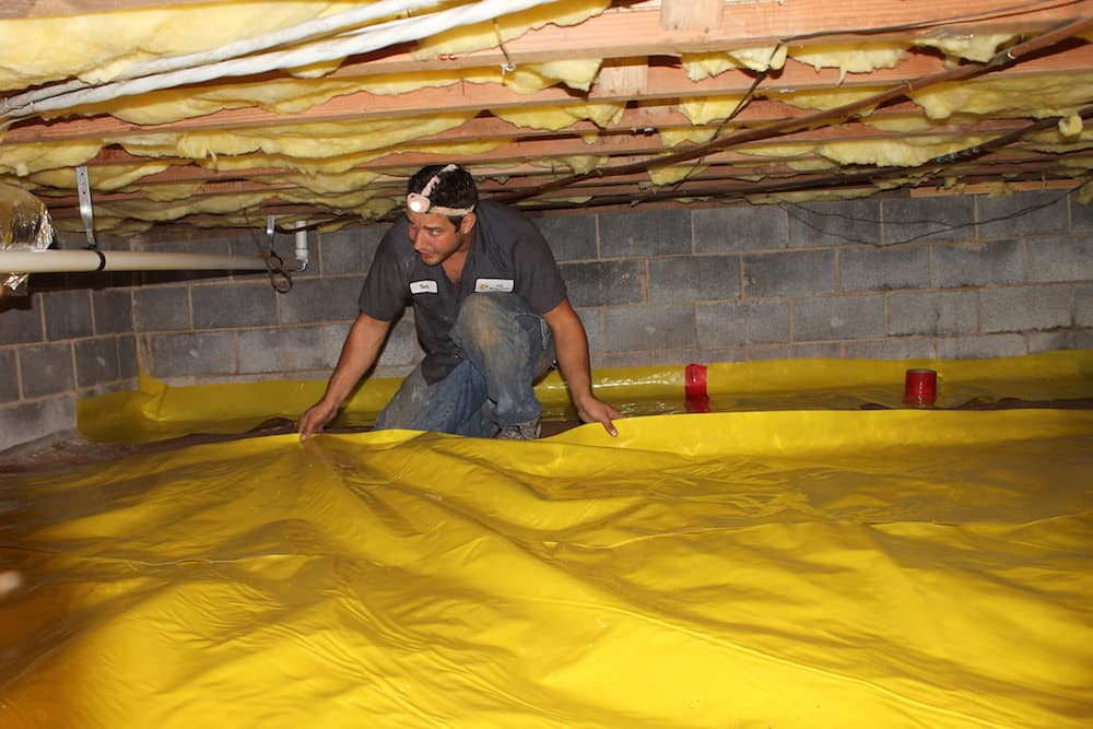 Installing a new crawl space liner